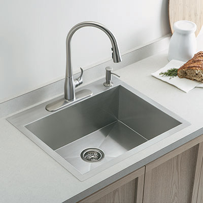 Selecting the ideal kitchen sink at the home depot for Corian farm sink price