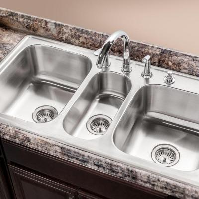 3 bowl kitchen sink selecting the ideal kitchen sink at the home depot 3852