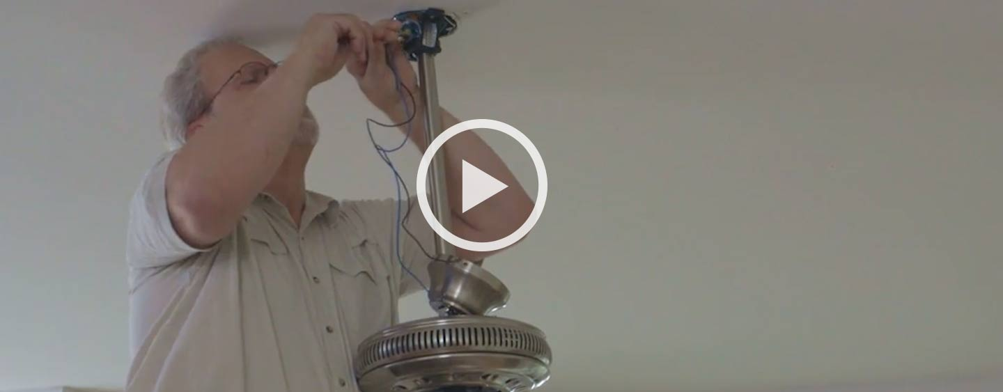 Installing A Ceiling Fan The Home Depot How To Install Wiring