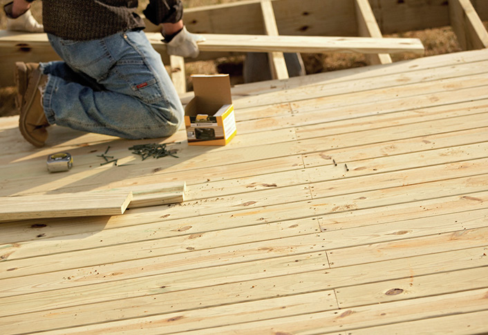 Steps to repair deck and joists at the home depot for What is the best wood for decking