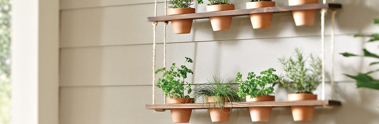 Growing Herb Garden Indoors Part - 18: Hanging Herb Garden