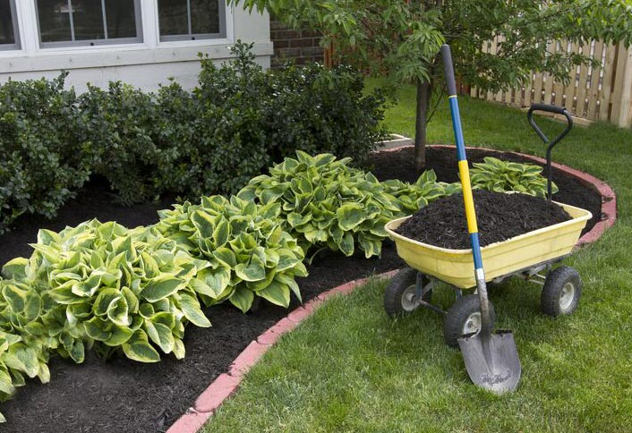 fetching home depot garden carts. Use mulch in your garden to enrich soil  protect against extreme temperatures prevent weeds and conserve moisture Guide Add Mulch Your Garden at The Home Depot