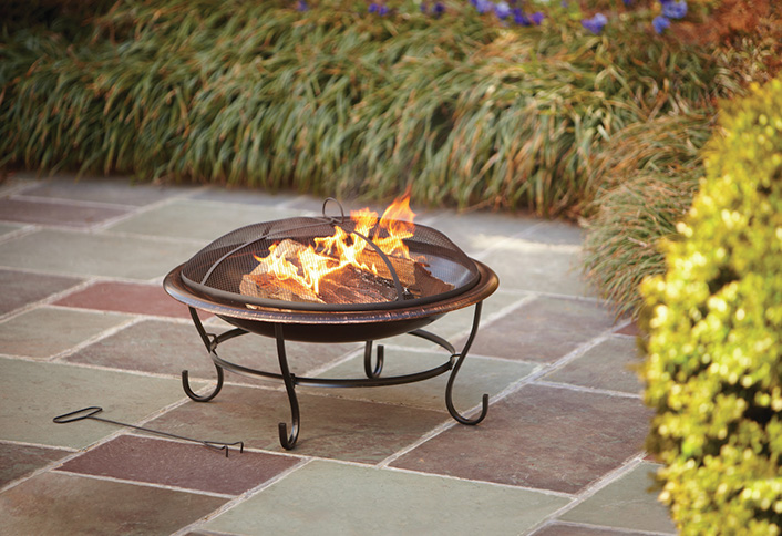 how to choose and maintain a fire pit at the home depot
