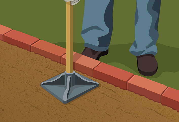 how to install flat brick edging at the home depot