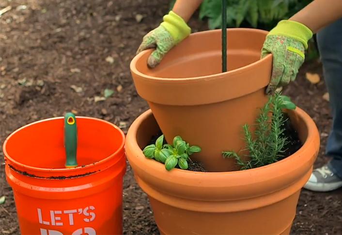 Add Next Planter   Herb Garden Tower Container