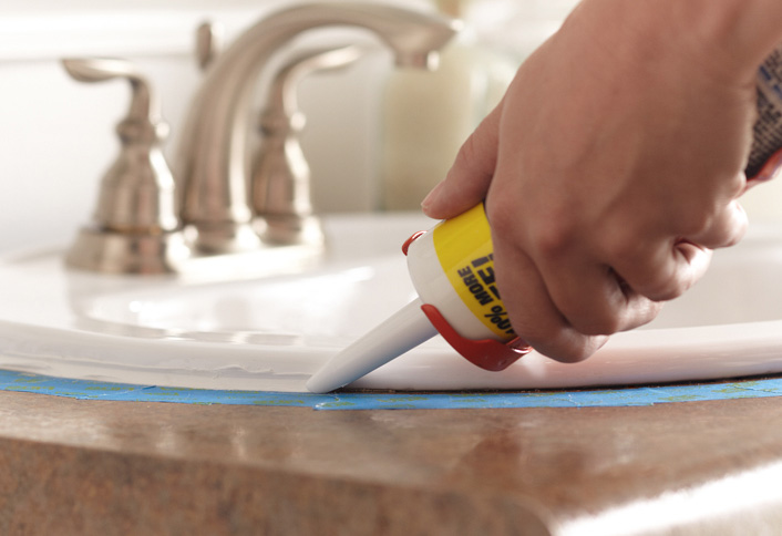 How To Caulk At The Home Depot - Caulking shower pan