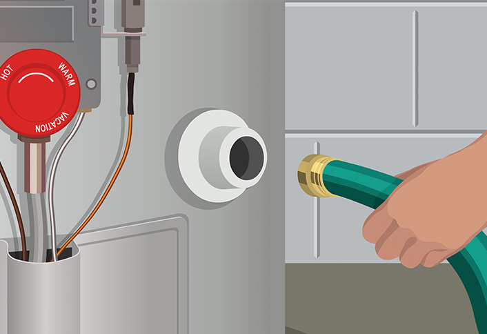 how to turn off hot water heater