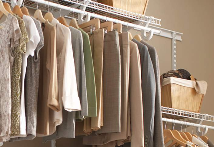 Add Organization And Extra Room To Your Home With A ClosetMaid ShelfTrack  Closet Storage System