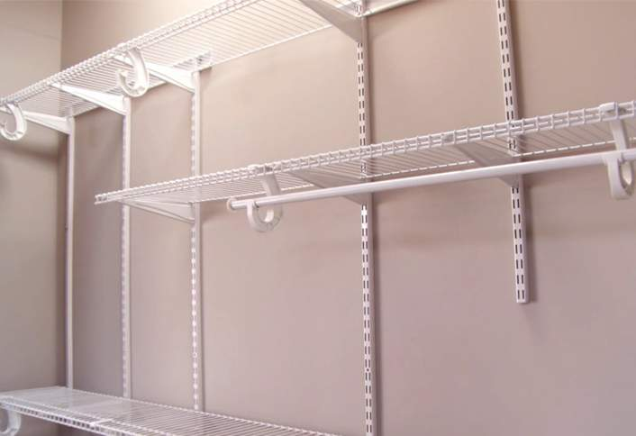 Do It Yourself Home Design: How To Install A ClosetMaid ShelfTrack Closet Storage