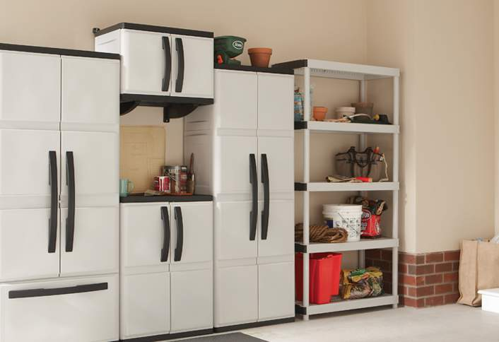 plastic kitchen cabinet doors learn to install hdx plastic cabinets and shelves at the 24787
