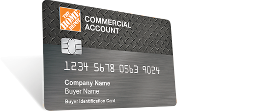 Home Depot Commercial Account Card