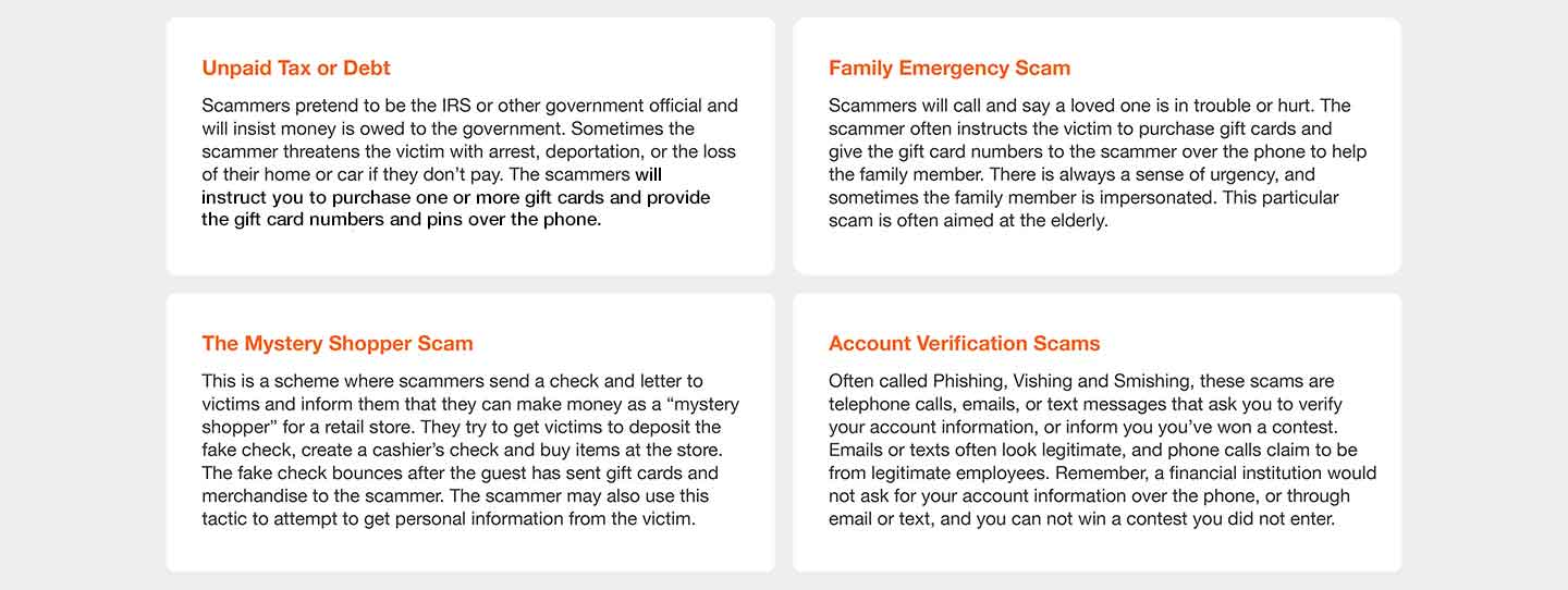 Gift Cards Scams - The Home Depot