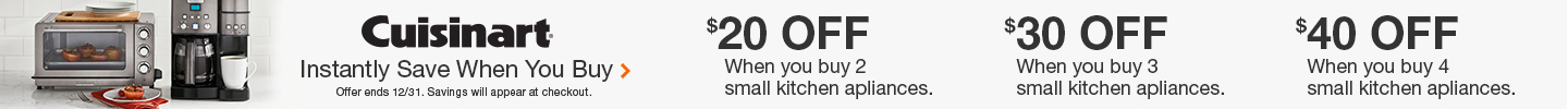 Cuisinart Instantly Save When You Buy