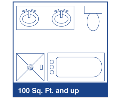 100sq Ft + bathroom diagram