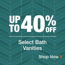 Up To 40% Off Select Bath Vanities