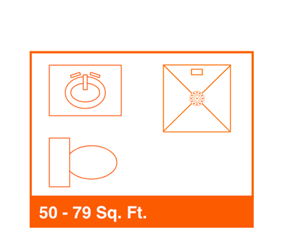50-79 sq foot bathroom diagram