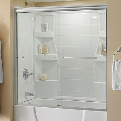 Clear Glass · Sliding Bathtub Doors & Clear - Bathtub Doors - Bathtubs - The Home Depot