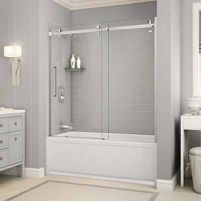 reviews medium bathtub folding glass doors size door for with shower of frameless half