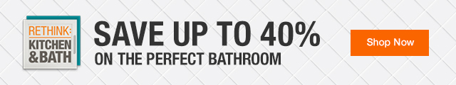 Save up to 40% on the perfect bathroom