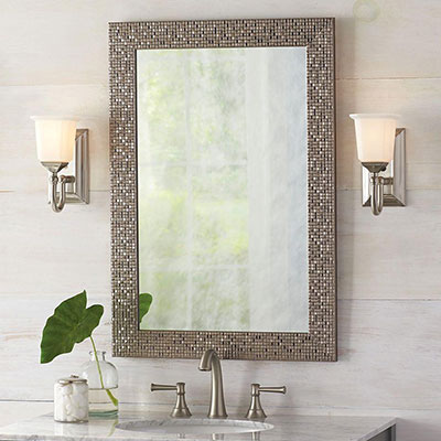 Brushed Nickel Bathroom Mirror. Vanity Mirrors Bathroom  Bath The Home Depot