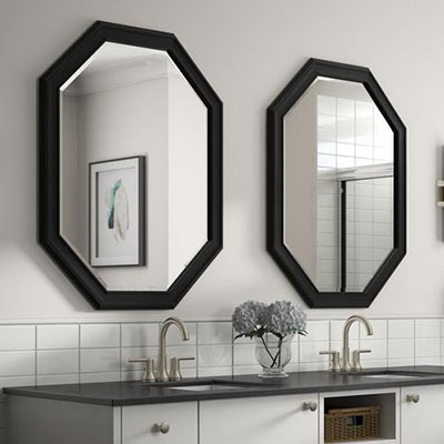 Awesome bathroom mirror Top Search - Fresh black framed bathroom mirror Lovely