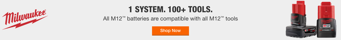 1 System. 100+ Tools. All M12 Batteries are compatible with all M12 Tools