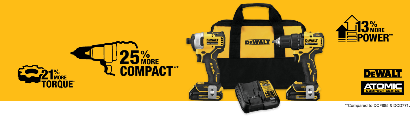 Where Size Meets Power: Get to know the DeWalt Atomic compact series