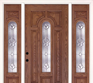 wood front door with sidelights solid wood fiberglass doors front exterior the home depot