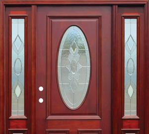 Front doors exterior doors the home depot for Wood doors with windows