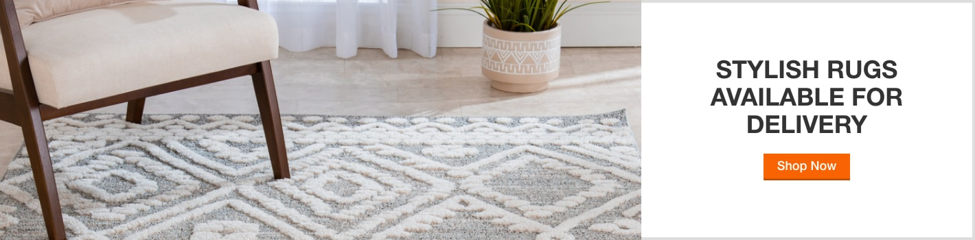 Stylish rugs available for delivery