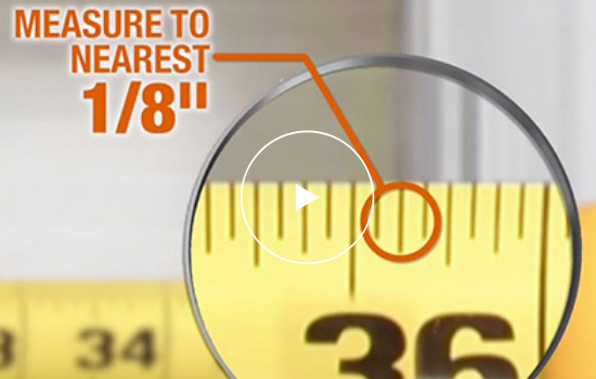How to Measure for Blinds. Measure to nearest 1/8""