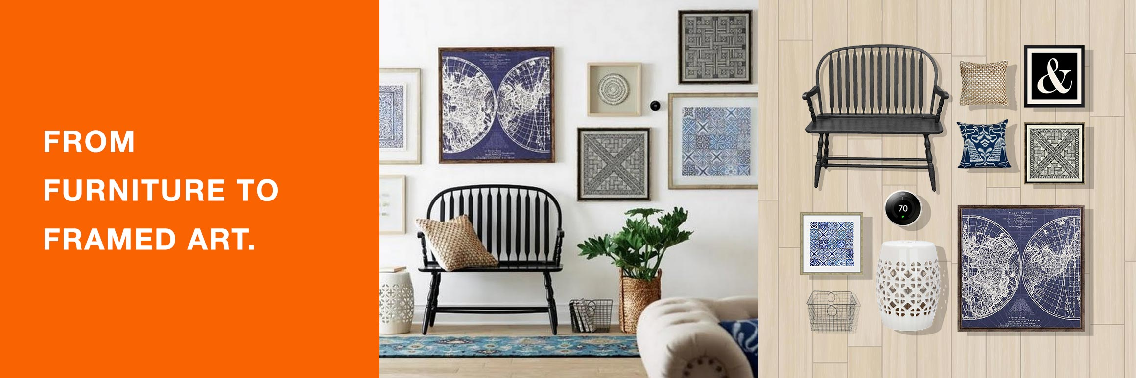 From furniture to framed art.