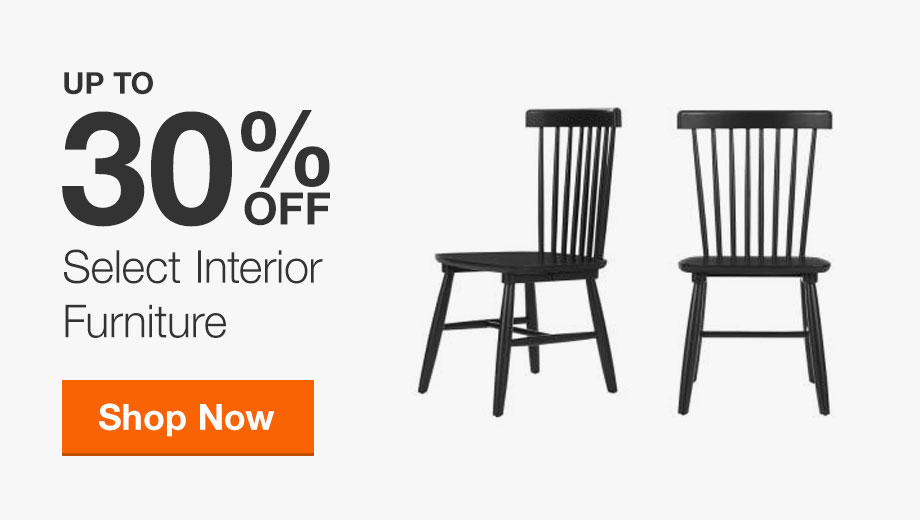 Up to 30% Off Select Interior Furniture