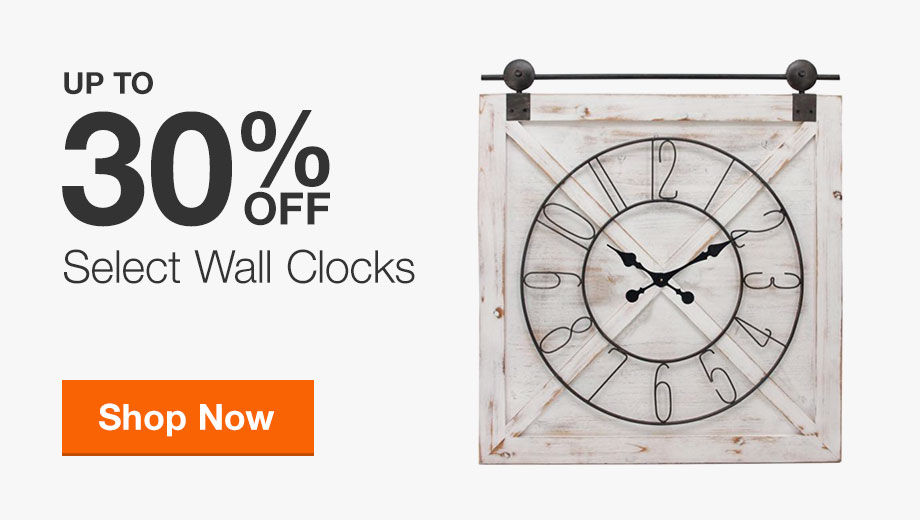 Up to 30% Off Select Wall Clocks