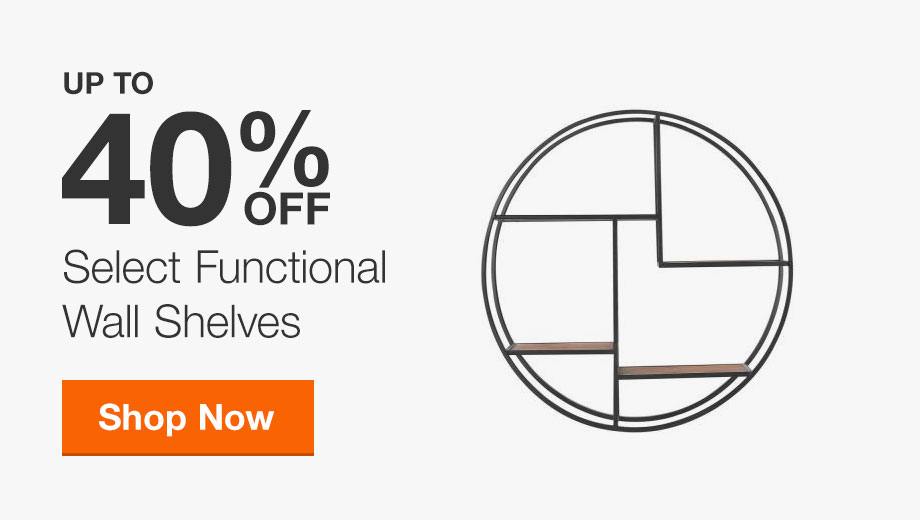 Up to 40% Off Select Functional Wall Shelves