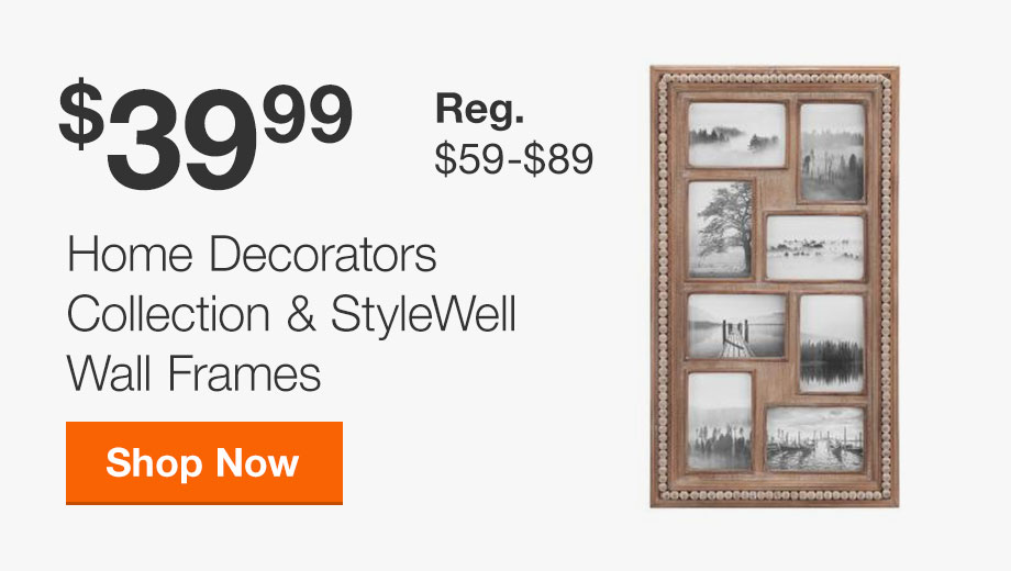 $39.99 Home Decorators Collection & StyleWell Wall Frames; Reg $59-89