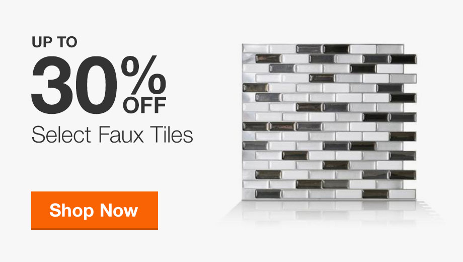 Up to 30% Off Select Faux Tiles