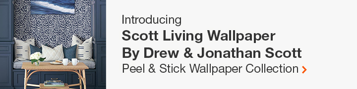 Introducing Scott Living Wallpaper by Drew & Jonathan Scott exclusively for The Home Depot