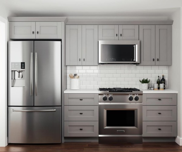 Gray Kitchen Cabinets Kitchen The Home Depot