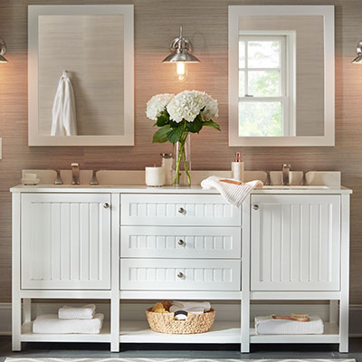 UP TO 40% OFF. select bath vanities.