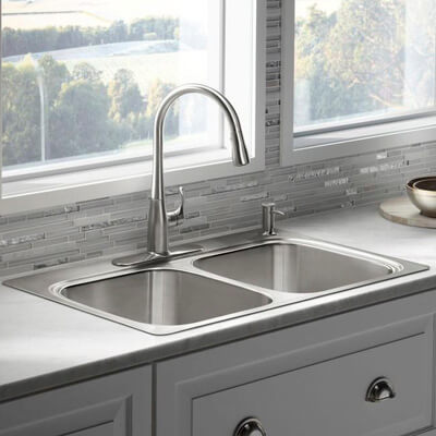 Stainless Steel - Kitchen Sinks - Kitchen - The Home Depot