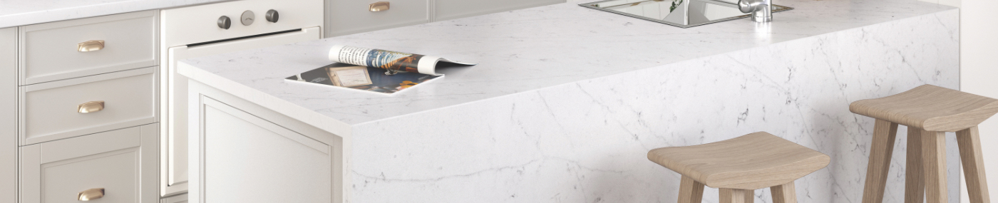 Choose your custom countertop material and design it online