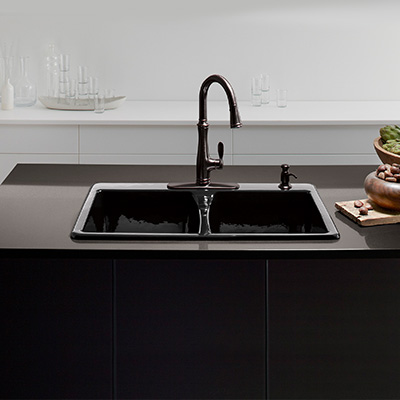 Drop In Black Stainless Steel Kitchen Sink