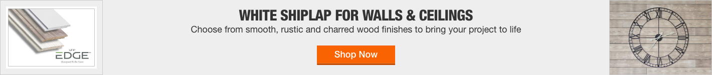 White Shiplap for walls & ceilings Choose from smooth, rustic and charred wood finishes to bring your project to  life