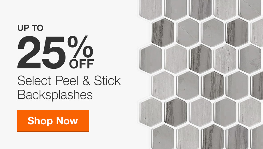 Up to 25% off Select Peel & Stick Backsplashes
