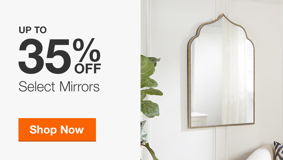 Up to 35% off Select Decor Mirrors