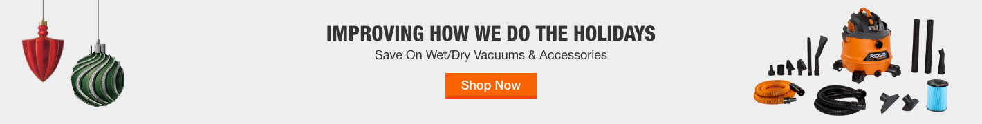 Get Black Friday Prices on Wet/Dry Vacuums & Accessories Now through December