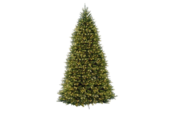 Image Christmas Tree.7 5 Ft Pre Lit Led Wesley Spruce Artificial Christmas Tree With 550 Surebright Color Changing Lights