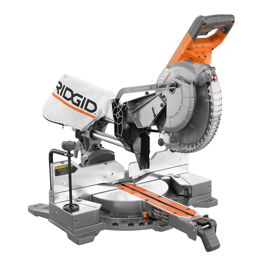 15 Amp 10 in  Corded Dual Bevel Sliding Miter Saw with 70° Miter Capacity