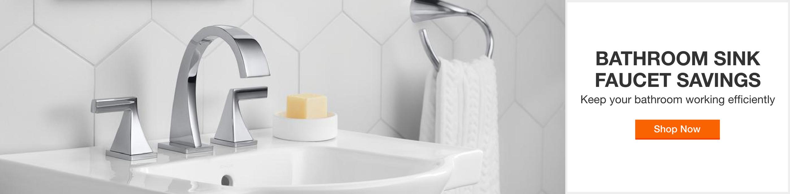 Bathroom sink faucet savings